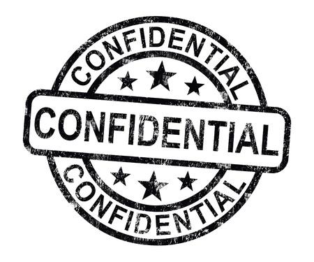Vertrouwelijke stempel met prive-correspondentie of documenten