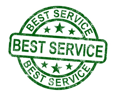 Best Service Stamp Showing Top Customer Assistance Stock Photo - 14081086