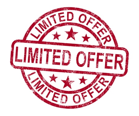 promotional: Limited Offer Stamp Showing Product Promotion Stock Photo