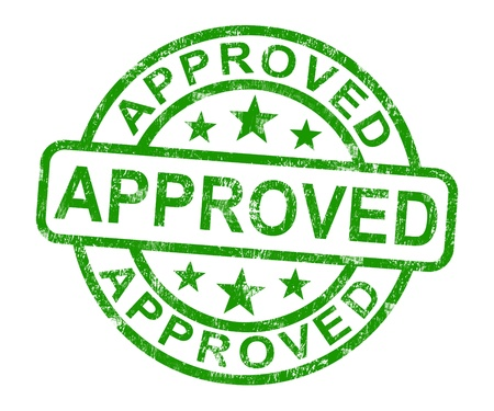 Approved Stamp Shows Quality Excellent Products Stock Photo - 14081109