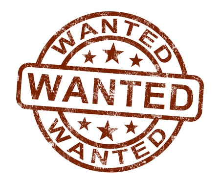 sought: Wanted Stamp Showing Needed Required Or Seeking