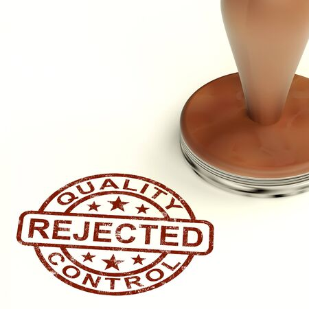 Rejected Stamp Shows Rejection Denied Or Refusal Stock Photo - 14081037