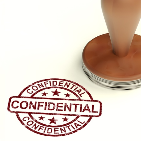 confidentiality: Confidential Stamp Shows Private Correspondence Or Documents