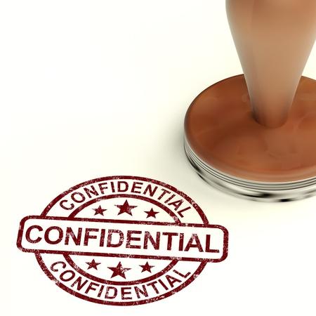 correspondencia: Sello Confidencial muestra la correspondencia o documentos privados Foto de archivo