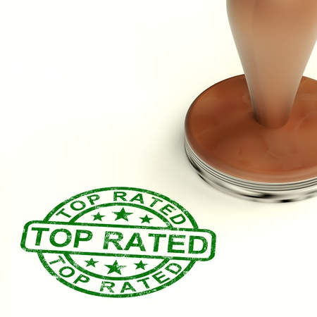 Top Rated Stamp Shows Best Services Or Products Stock Photo - 14081077