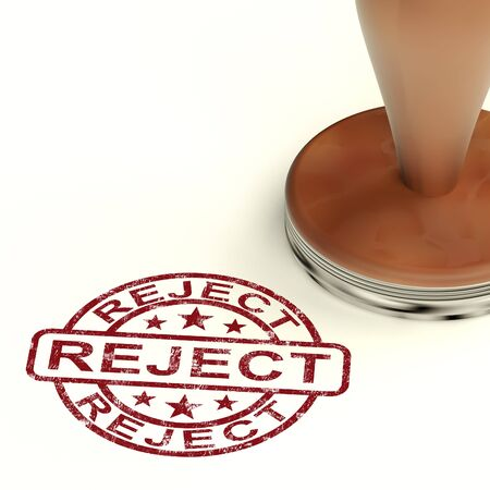 Reject Stamp Shows Rejection Denied Or Refusal Stock Photo - 14081048