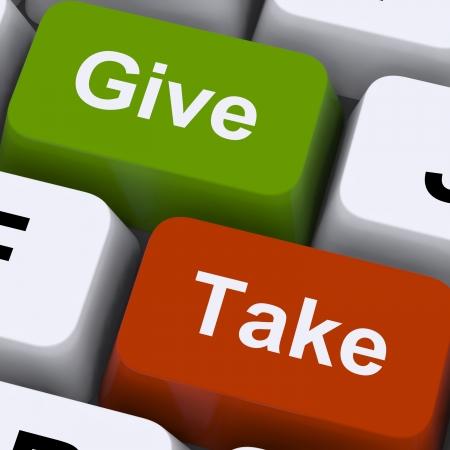 n�gocier: Donner ou prendre Touches Affichage Compromettre