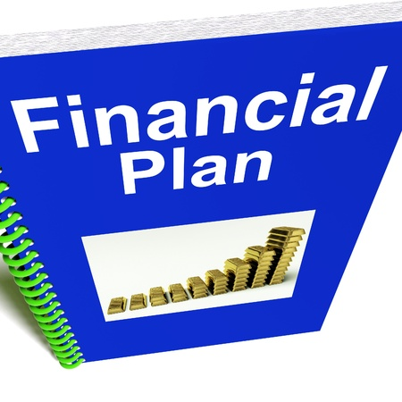 Financial Plan Report Shows Revenue Or Earning Strategy Stock Photo - 14562628