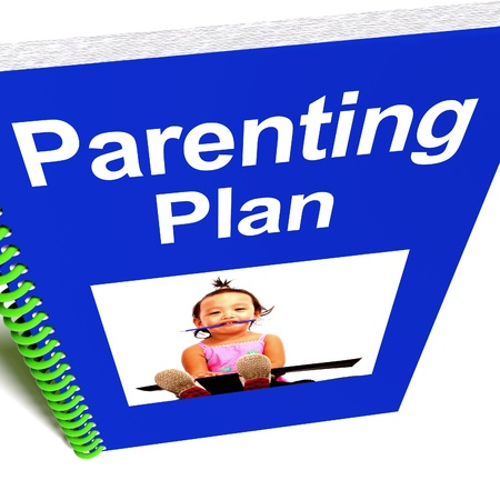 upbringing: Parenting Plan Book For Childs Education  Stock Photo