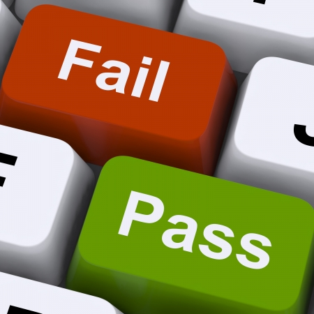 passes: Pass Or Fail Keys To Show Exam Or Test Results