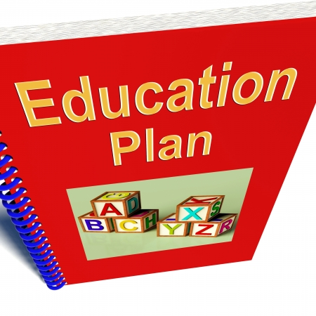 Education Plan Shows Learning Strategy And Development Stock Photo - 14562592