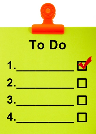 task: To Do List Clipboard For Organizing The Tasks
