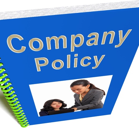 policies: Company Policy Book Showing Rules For Employees