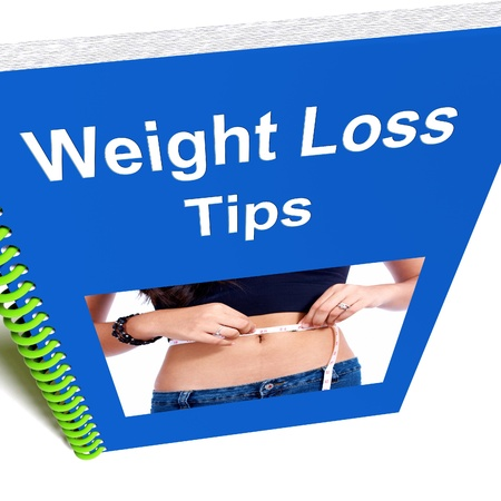 hints: Weight Loss Tips Book Showing Diet Advice
