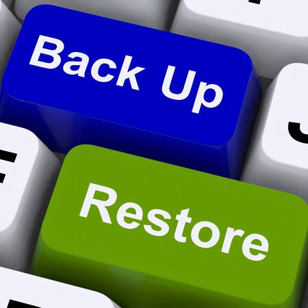 Back Up And Restore Keys For Computer Data Security Stock Photo - 14562700