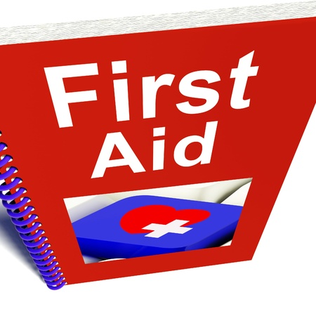 First Aid Manual Showing Emergency Medical Help photo