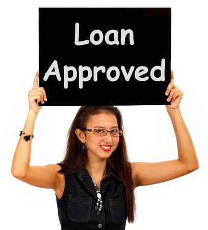 Loan Approved Sign Showing Credit Agreement Ok Stock Photo - 14562713