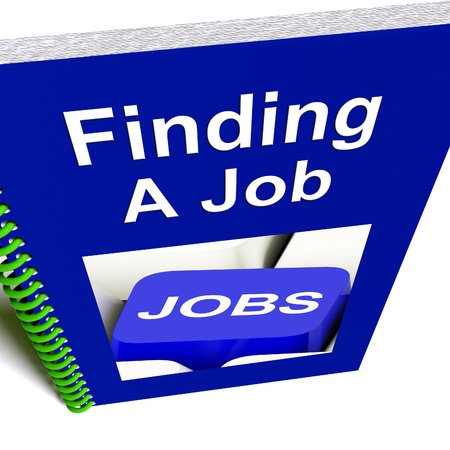 Finding A Job Book Giving Career Advice Stock Photo - 14562768