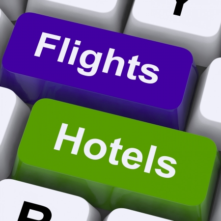 Flights And Hotel Keys For Overseas Vacations Booked Online photo
