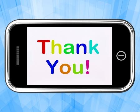 agradecimiento: Gracias Mensaje Enviado Gracias Como en un m�vil