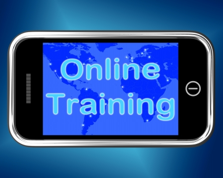 training and development: Online Training Mobile Message Showing Internet Learning