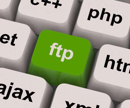 Ftp Key Showing File Transfer Protocol Stock Photo - 14562597