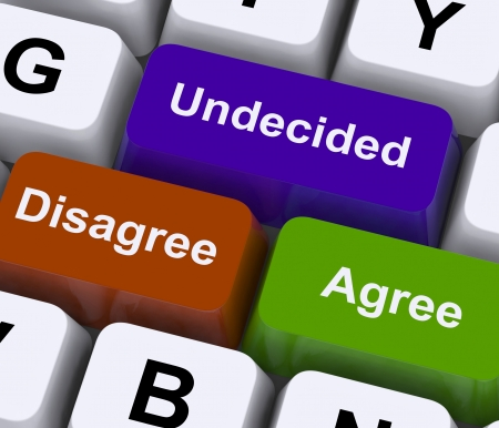 poll: Disagree Agree Undecided Keys For Online Poll Or Voting