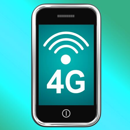 4g Internet Connected On Mobile Smartphone photo