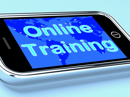 elearn: Online Training Mobile Screen Showing Web Learning
