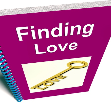 finding love: Finding Love Book Showing Relationship Advice Stock Photo