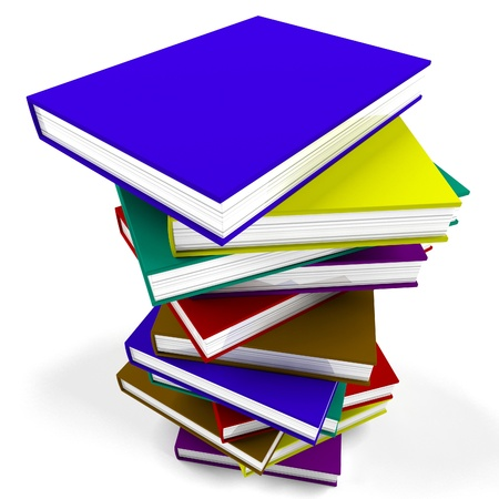 stack of books: Stack Of Books Representing University And Education Stock Photo