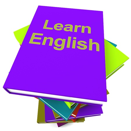 linguistics: Learn English Book For Studying A Foreign Language Stock Photo