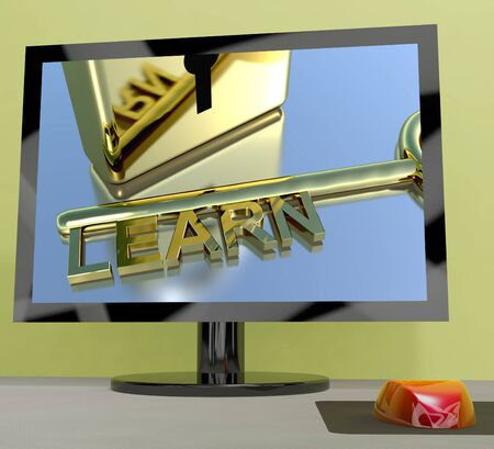 elearn: Learn Key On Computer Screen Shows Online Education