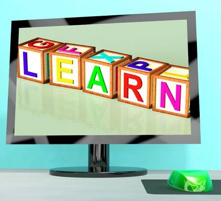 elearn: Learn Blocks On Computer Screen Shows Online Kids Education