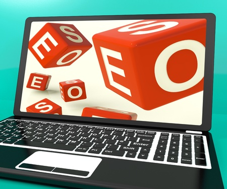 Seo Dice On Laptop Shows Online Web Optimization Stock Photo - 15083745