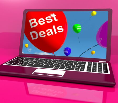 reduced: Best Deals Balloons On Computer Represents Discounts Online