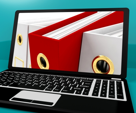 Red File Amongst White For Getting Organized On The Computer Stock Photo - 15083820