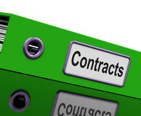 contratos: Contrato de archivos Mostrando Legales Acuerdos comerciales Foto de archivo
