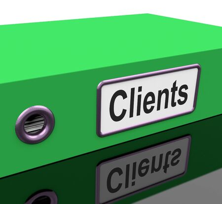 customer records: Clients File Contains Customer Buying Records