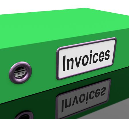 accounts payable: Invoices File Shows Accounting And Expenses