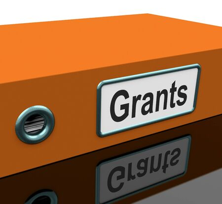 grants: Grants File Containing School Applications Stock Photo