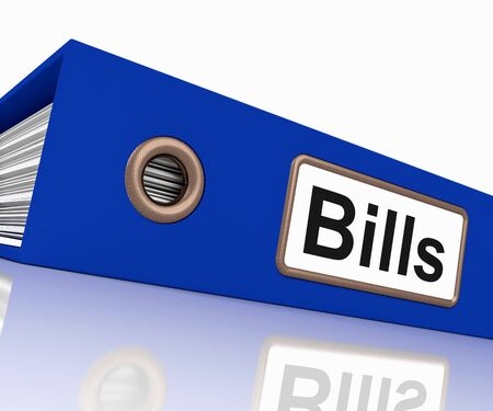 Bills File Showing Accounting And Payments Due Stock Photo - 15084997