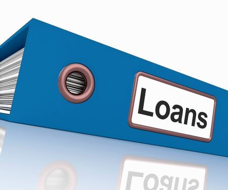 borrowing: Loans File Containing Borrowing Or Lending Paperwork Stock Photo
