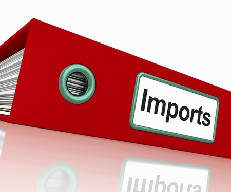 commodities: Import File Shows Importing Goods And Commodities Stock Photo