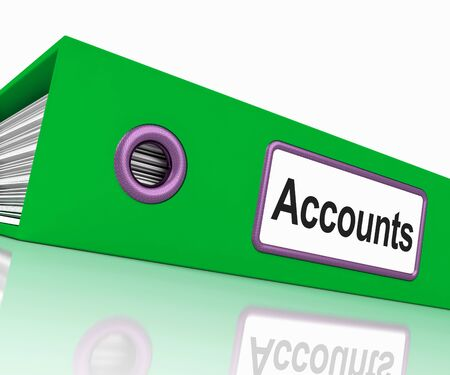 Accounts File Showing Accounting Profit And Expenses Stock Photo - 15084919