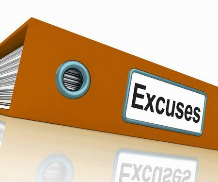 excuser: Excuses fichier contenant Raisons et des boucs �missaires Banque d'images