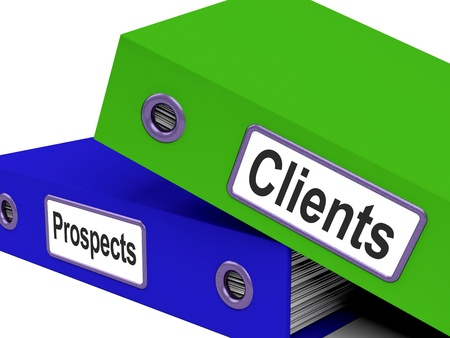 leads: Clients And Prospects Files Showing Converting Leads  Stock Photo