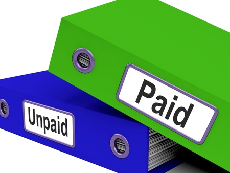 accounts payable: Paid Unpaid Files Showing Overdue Invoices And Bills