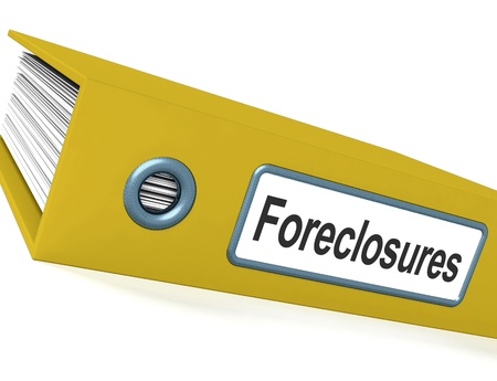 repossessing: Foreclosures File Showing Bankruptcy And Eviction