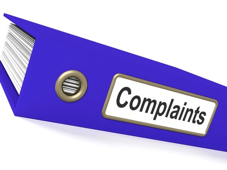 unacceptable: Complaints File Showing Complaint Reports And Records Stock Photo